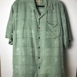 Jamaica Jaxx Men's Hawaiian Button Front Shirt M